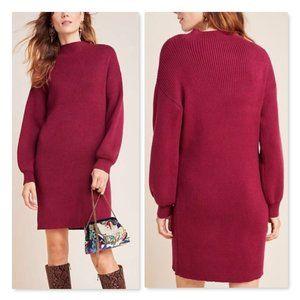 Anthropologie Alder Mock Neck Sweater Dress